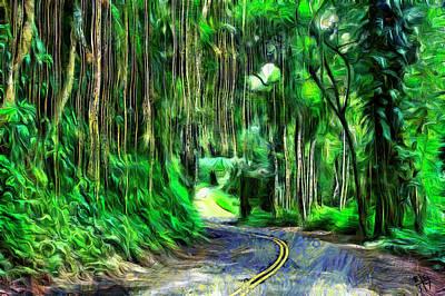 Digital Art - The Old Mamalahoa Hwy by Bruce