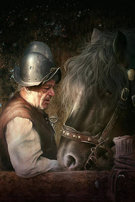 Digital Art - The Old Man And His Trusty Friend by Uwe Jarling