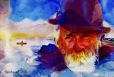 Painting - The Old Man And The Sea by Ted Azriel