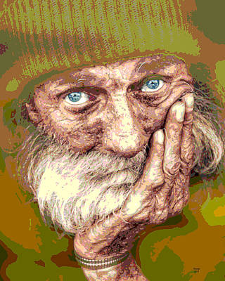 Mixed Media - The Old Man by Charles Shoup