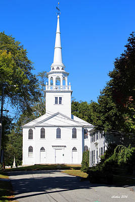 Photograph - The Old Meeting House Yarmouth Me by Dick Botkin