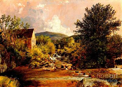 Old Mill Scenes Painting -  The Old Mill 1847 by Peter Gumaer Ogden