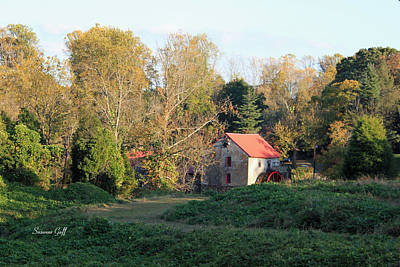 Red Roof Photograph - The Old Mill At Guilford II by Suzanne Gaff