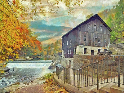 Digital Art - The Old Mill At Mcconnells Mill State Park by Digital Photographic Arts