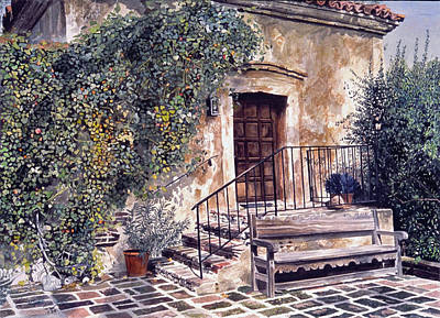 Historic Building Painting - The Old Mill El Molina Viejo by David Lloyd Glover