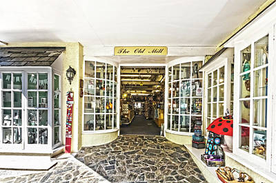 Photograph - The Old Mill Gift Shop Looe by Terri Waters