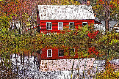 Photograph - The Old Mill House by Nancy Griswold