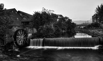 Old Mills Photograph - The Old Mill In Black And White by Greg Mimbs