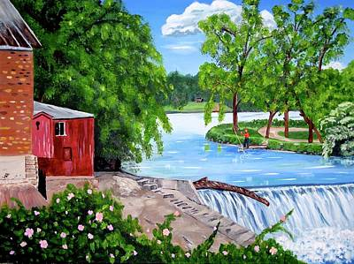 Painting - The Old Mill In Iowa by Phyllis Kaltenbach
