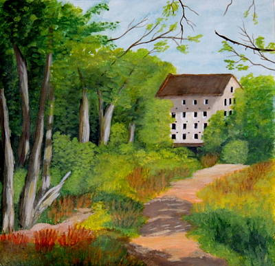 Wall Art - Painting - The Old Mill by Lisa MacDonald