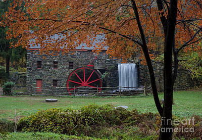 Photograph - The Old Mill New England  by April Bielefeldt