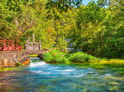 Ally Photograph - The Old Mill Stream by John M Bailey