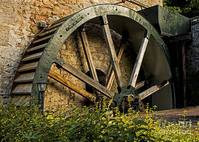 North Wales Digital Art - The Old Mill Wheel  by Chris Evans