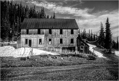 Photograph - The Old Mining Building At Alta, Colorado In Spring by John Brink