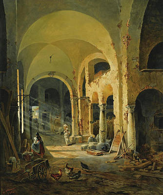 Altmann Painting - The Old Monastery by Anton Altmann the Younger