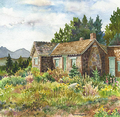 Nederland Painting - The Old Moore House At Caribou Ranch by Anne Gifford