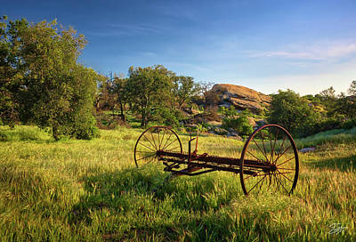 Photograph - The Old Mower 1 by Endre Balogh
