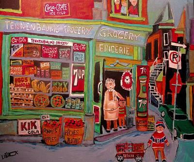 Old Neighbourhood Painting - Vintage Old Neighbourhood by Michael Litvack
