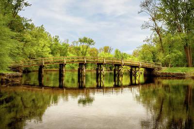 Photograph - The Old North Bridge  -  Oldnorthbridgeconcordortoadjust184732 by Frank J Benz