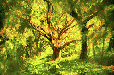 Modern Painting - The Old Oak Tree by Georgiana Romanovna