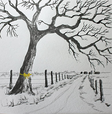 Painting - The Old Oak Tree by Jack G Brauer
