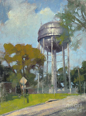 Wall Art - Painting - The Old Op Water Tower by Patrick Saunders
