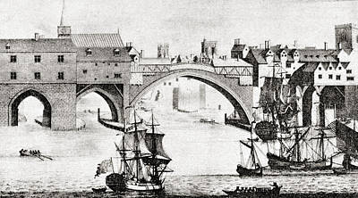 The Old Ouse Bridge, River Ouse, York Art Print by Vintage Design Pics