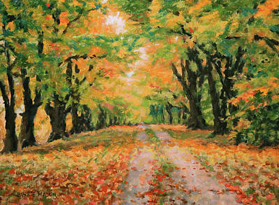Old Country Roads Painting - The Old Paths by Bonnie Mason