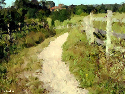 Pathway Digital Art - The Old Pathway by Nigel Hirst