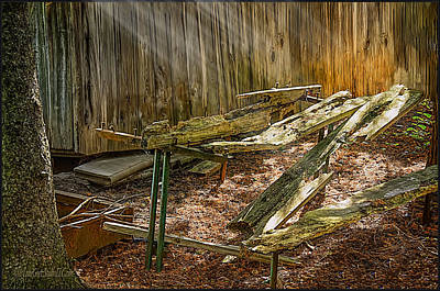 Photograph - The Old Picnic Table by LeeAnn McLaneGoetz McLaneGoetzStudioLLCcom