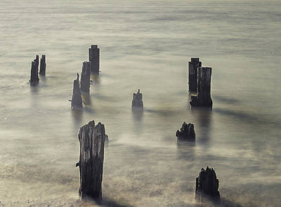 Driftwood Photograph - The Old Pier by Martin Newman