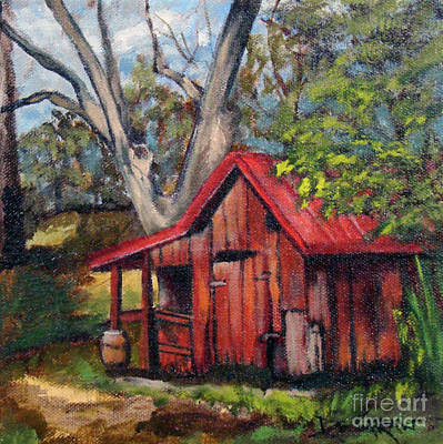 Painting - The Old Pig Barn by Cindy DeGraw
