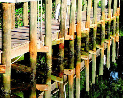 Photograph - The Old Pilings by T Guy Spencer