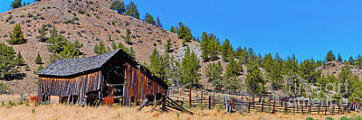 Photograph - The Old Pine Creek Ranch Barn And Coral by Ansel Price