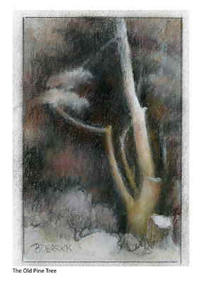 Pastel - The Old Pine Tree by Betsy Derrick