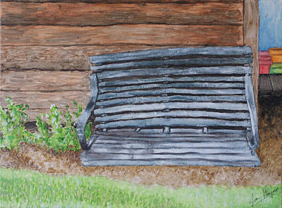 The Old Porch Swing Art Print by Jean Haynes