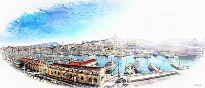 The Old Port Of Marseille  2 Art Print