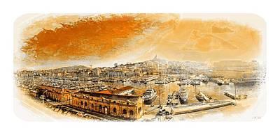 The Old Port Of Marseille,sixties Border Art Print