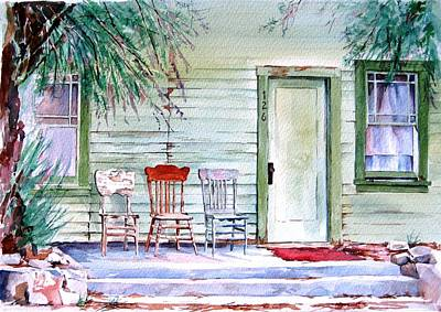 Painting - The Old Post Office At Keeler by Lynn Marit Peterson