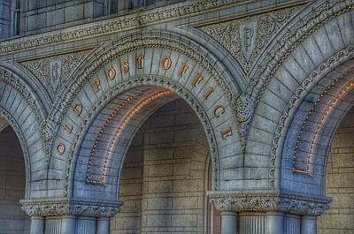 Photograph - The Old Post Office Sign Now Trump International Hotel In Washington D.c.  by Marianna Mills
