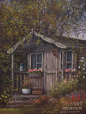 Potting Painting - The Old Potting Shed by Sean Conlon