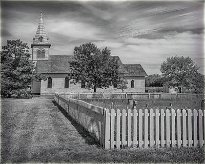 Photograph - The Old Prairie Church by Susan Rissi Tregoning