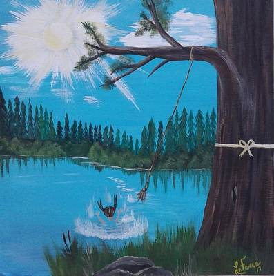 Bob Ross Painting - The Old Quarry by Lori Lafevers