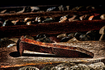 Photograph - The Old Railroad Spike by Olivier Le Queinec