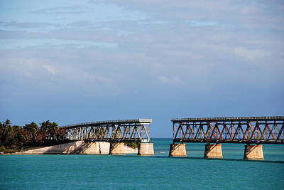 Bahia Honda Photograph - The Old Railroad To The Keys by Susanne Van Hulst