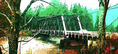 Painting - The Old Railroad Bridge by CHAZ Daugherty
