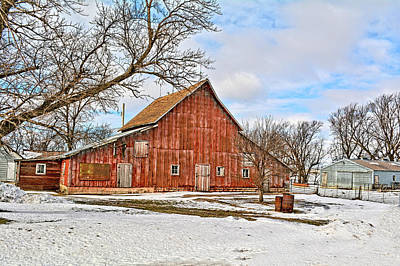 Photograph - The Old Red Barn by Bonfire Photography