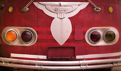 Photograph - The Old Red Bus by Heidi Hermes