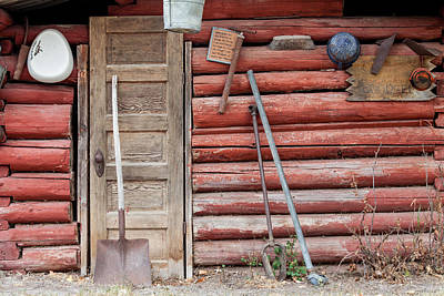 Photograph - The Old Red Cabin by Fran Riley
