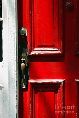 The Old Red Door Art Print by Hideaki Sakurai
